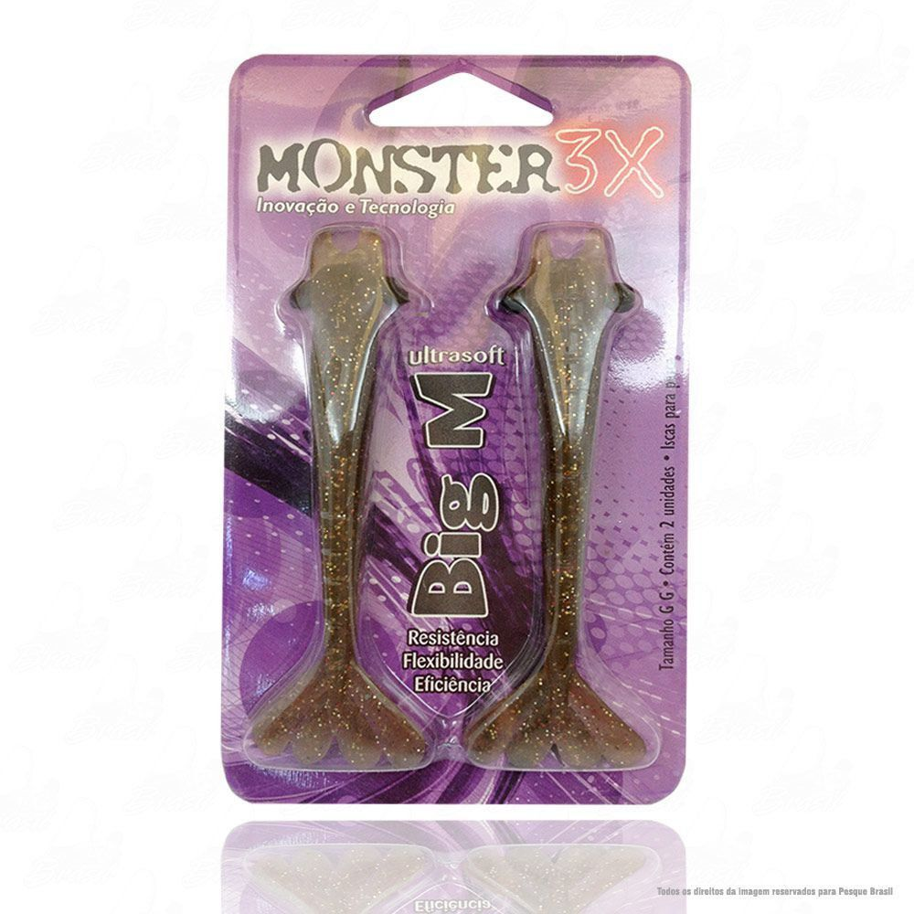 Isca Big M Ultrasoft One Bait Monster 3x 12 cm Cor Natural 037