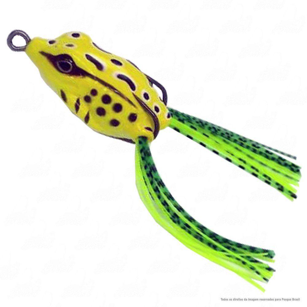 Isca Crazy Frog Yara Lures Sapinho de Borracha Cor 25 Amarelo Tamanho 5,5cm 11,5g