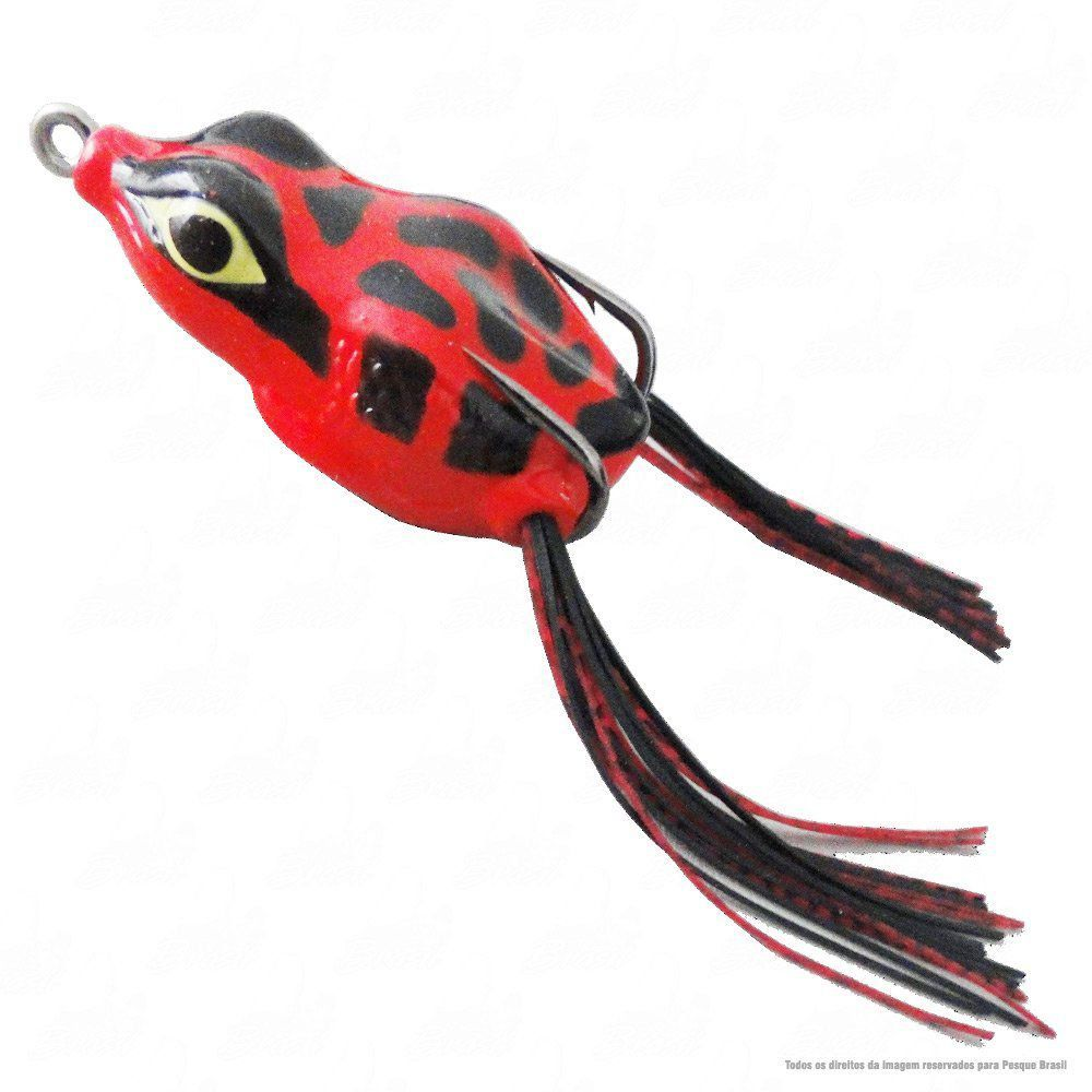 Isca Crazy Frog Yara Lures Sapinho de Borracha Cor 26 Vermelho Tamanho 5,5cm 11,5g