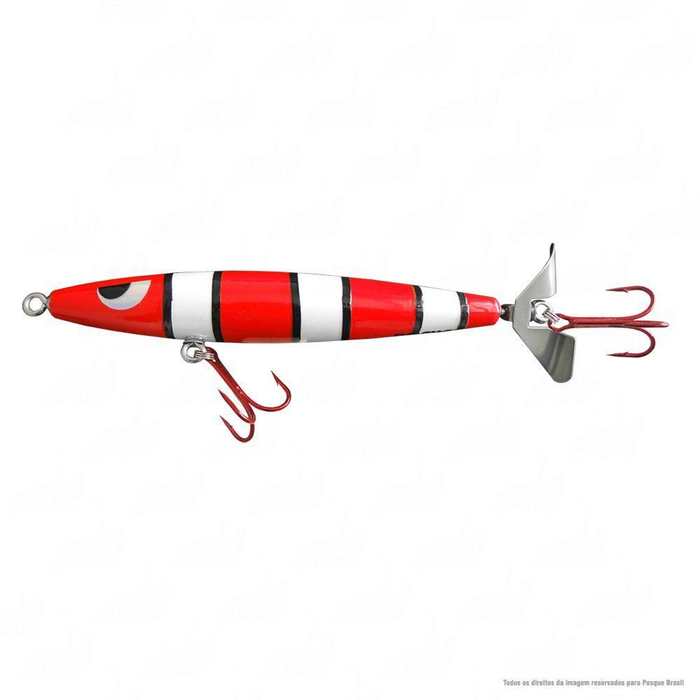 Isca Devassa Yara Lures Cor 16 Coral Tamanho 14cm 35g nado Superfície Hélice