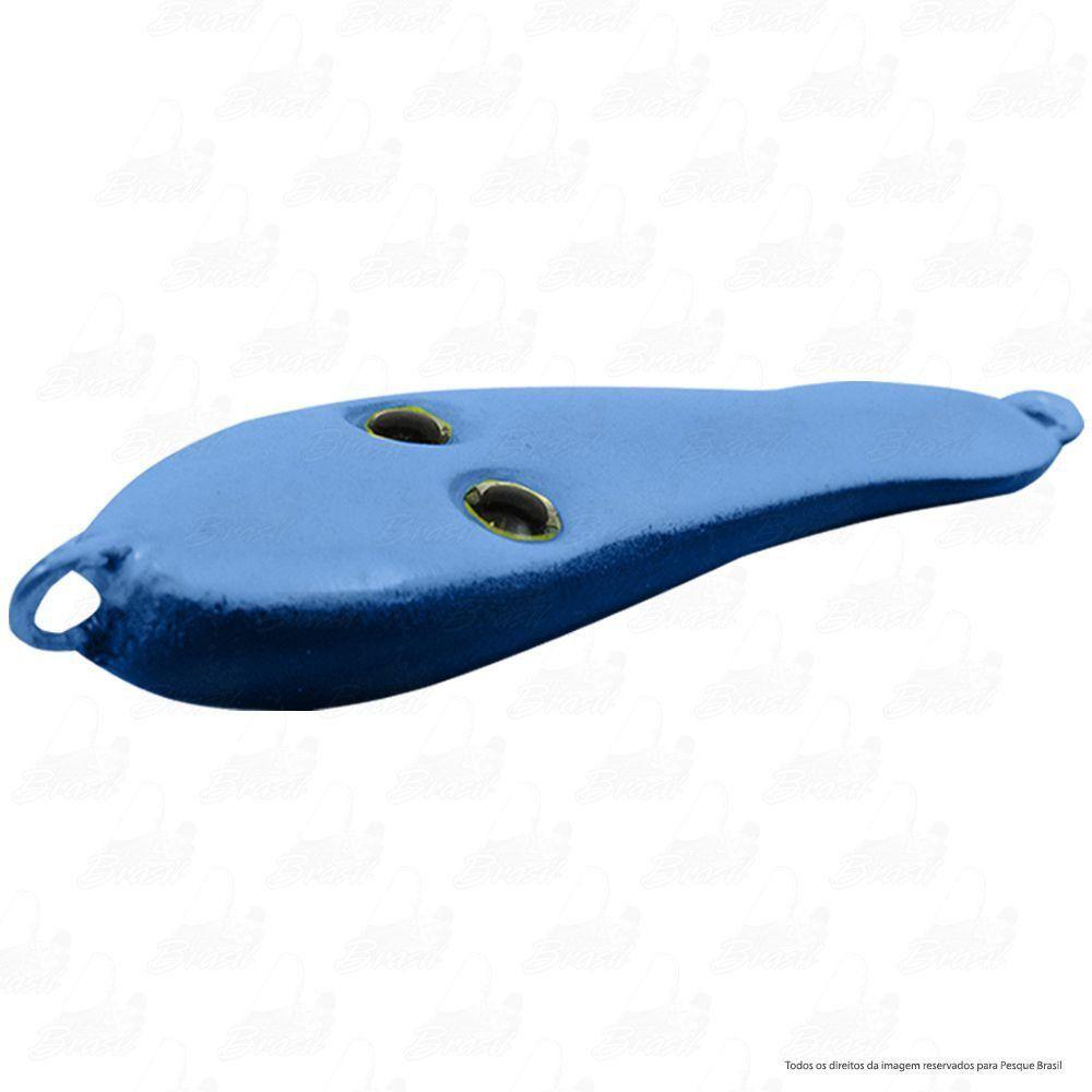 Isca Jumping Jig Frog Sapinho TNT Tamanho 6,3cm Peso 35g Chumbo Cor 10 Azul e Preto