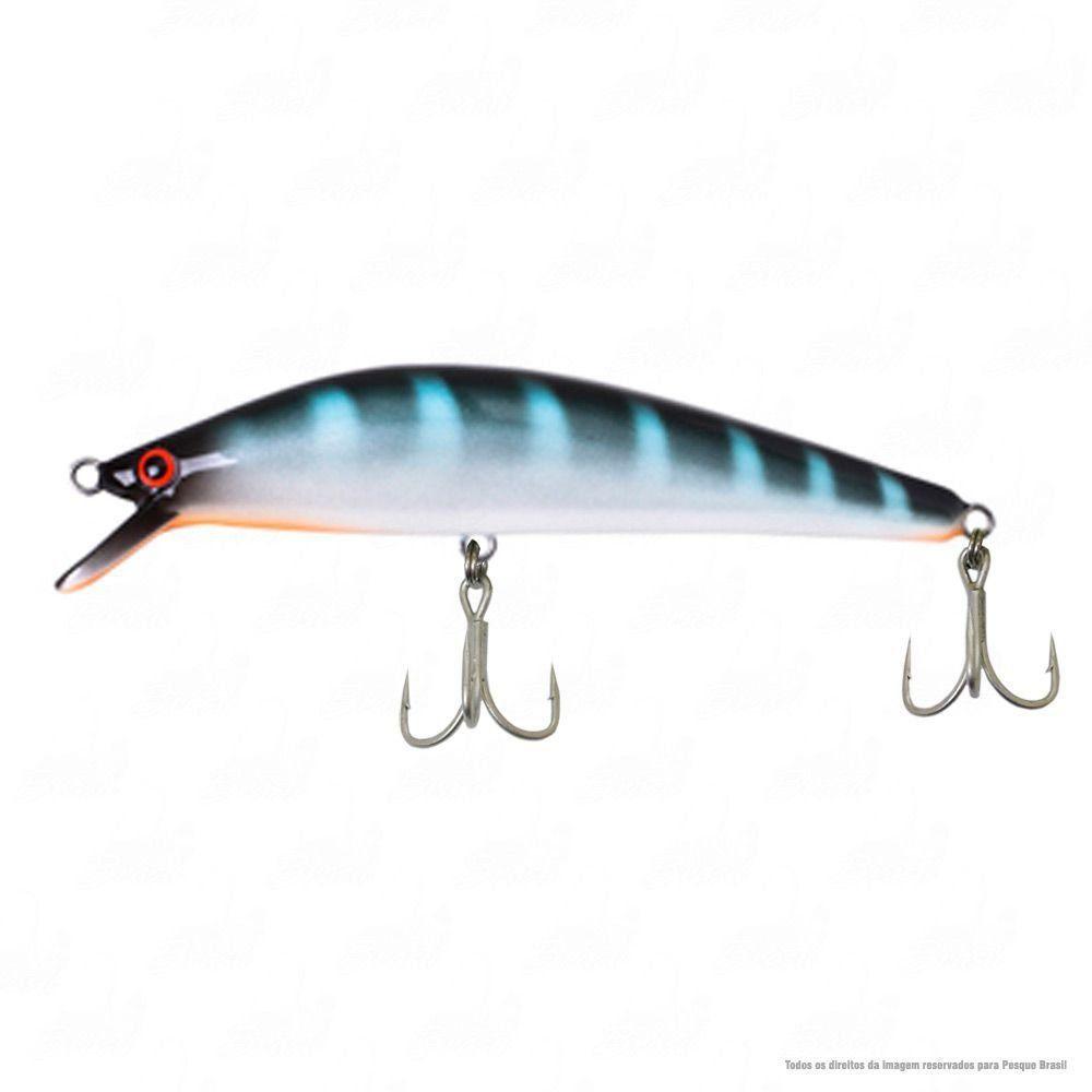 Isca Lola Borboleta 11,5 cm Peso 22g Ação Floating Cor 06 Azul Com Listras Nado Meia Água