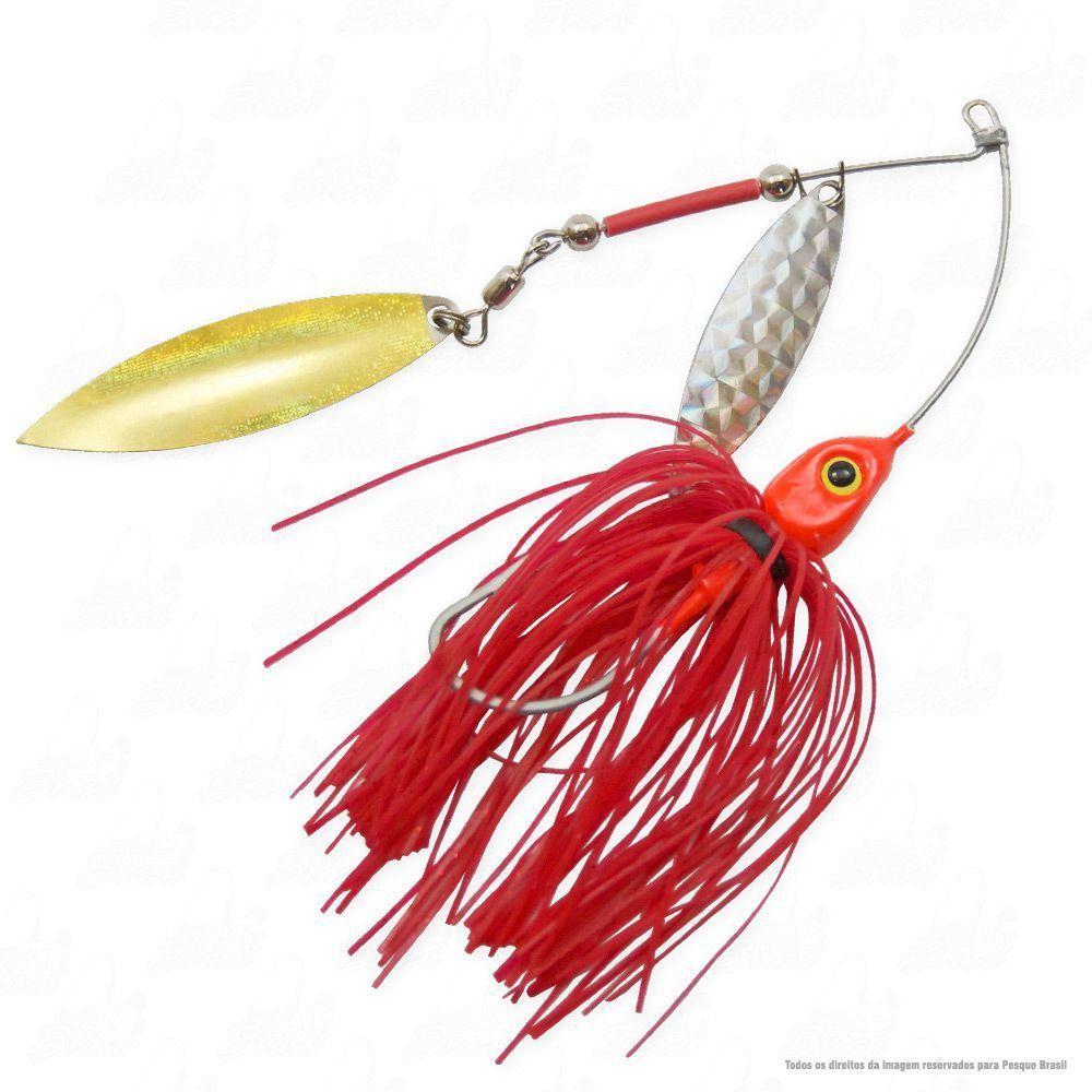 Isca Moro Deconto Spinner Bait 4/0 24g Cor 321 Vermelho