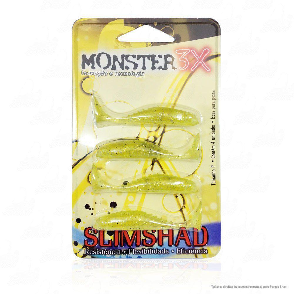 Isca Soft Monster 3x Slim Shad 2.7 polegadas 7cm Cor Chart 024