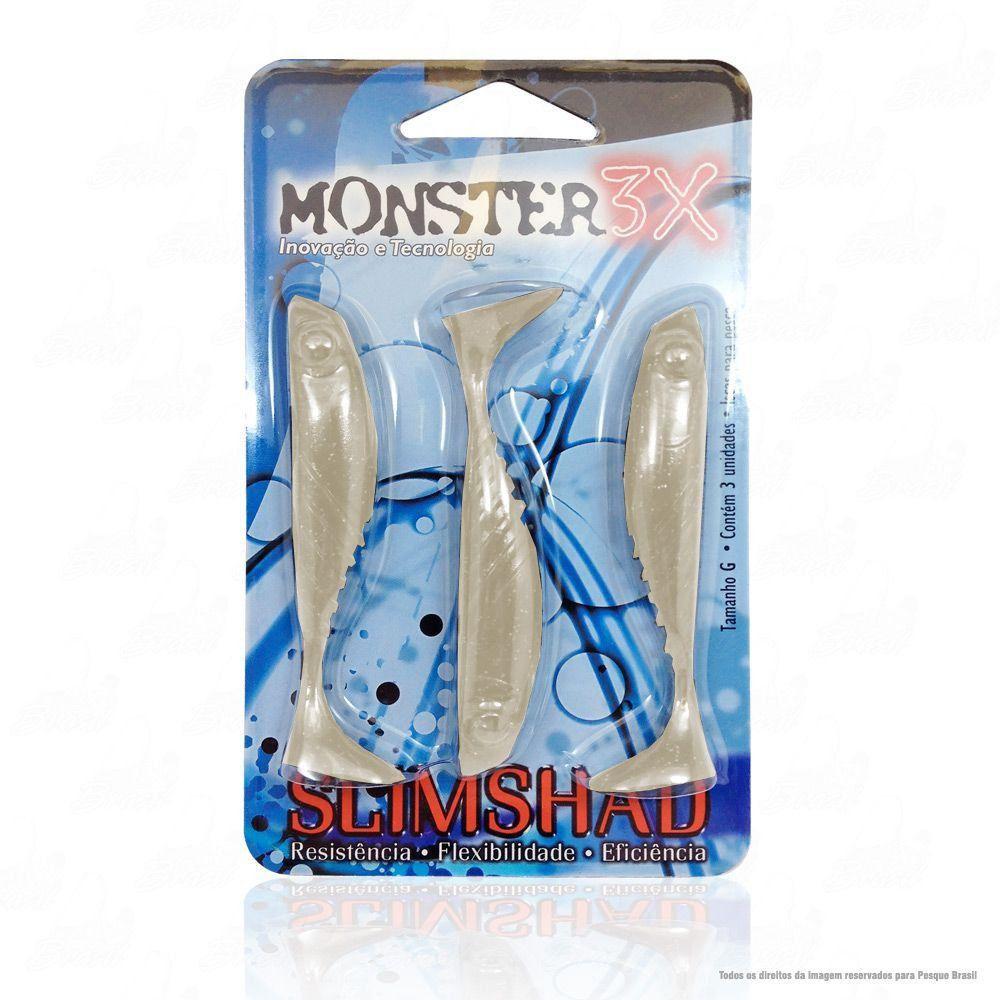 Isca Soft Monster 3x Slim Shad 3.7 polegadas 9cm Cor Manjumba 009