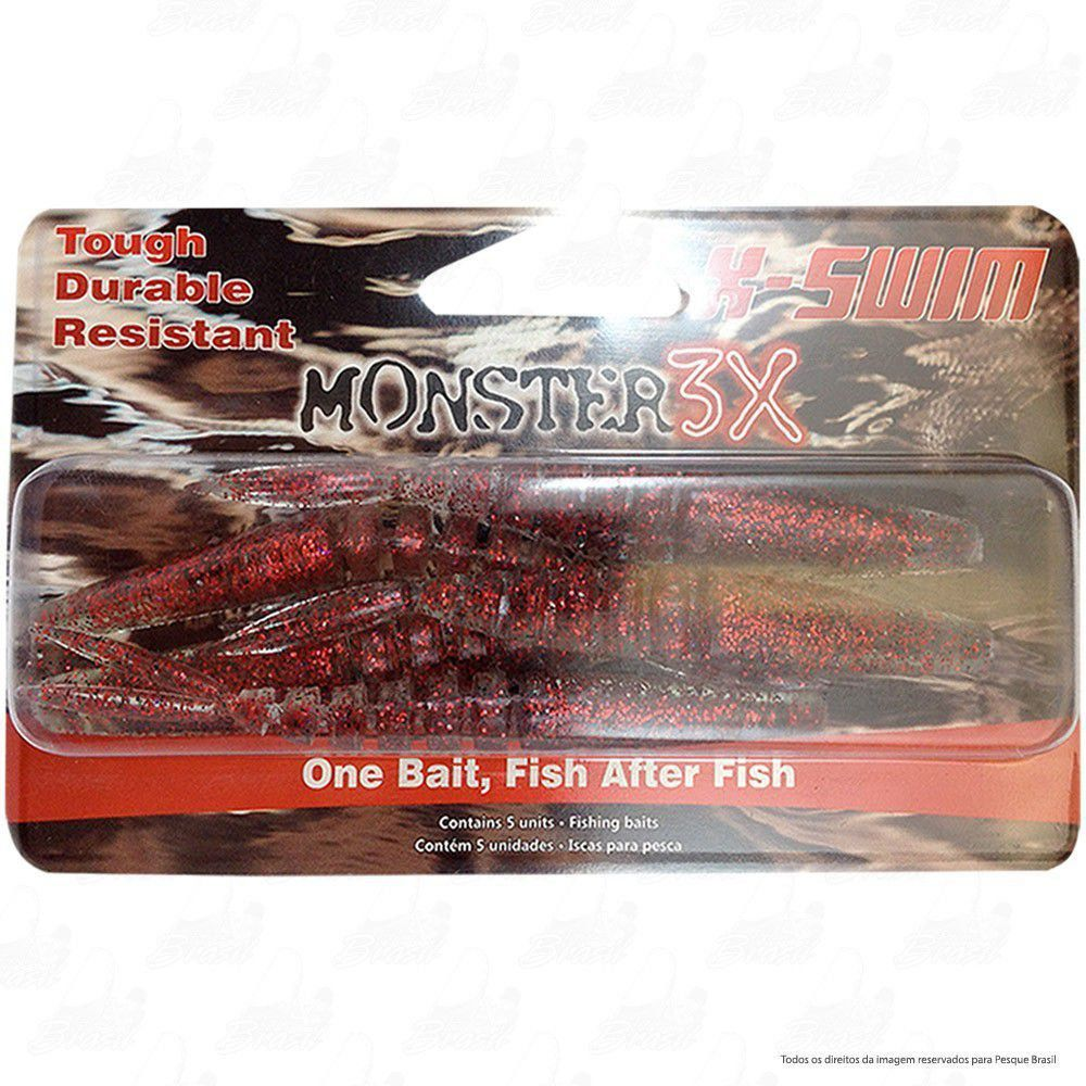 Isca Soft Monster 3x X-Swim 12cm Cor Ultra Red 038