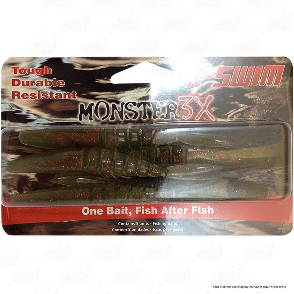 Isca Soft Monster 3x X-Swim 9cm Cor Forest 013
