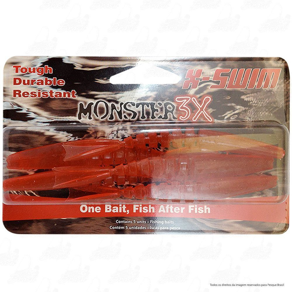 Isca Soft Monster 3x X-Swim 9cm Cor Red 002
