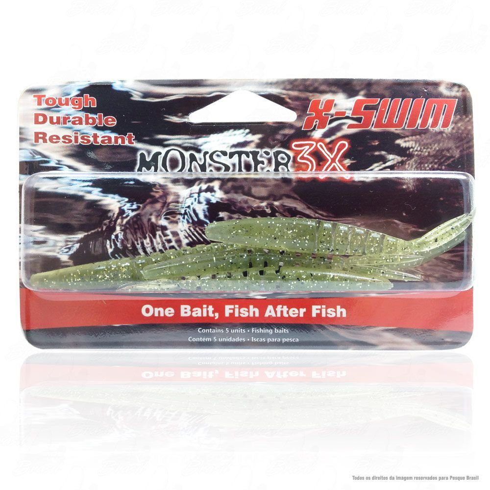 Isca Soft Monster 3x X-Swim 9cm Cor Musgo 007