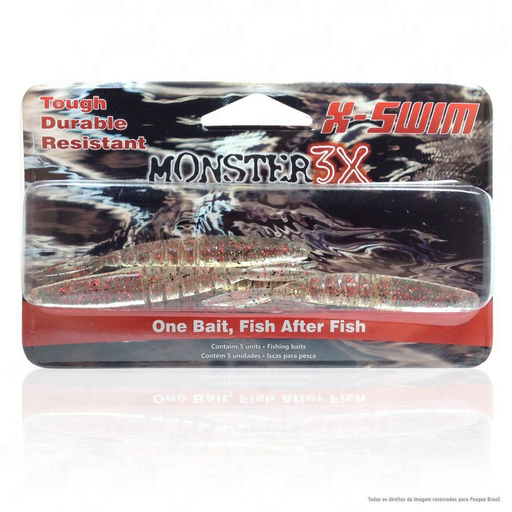 Isca Soft Monster 3x X-Swim 9cm Cor Red Ghost 008