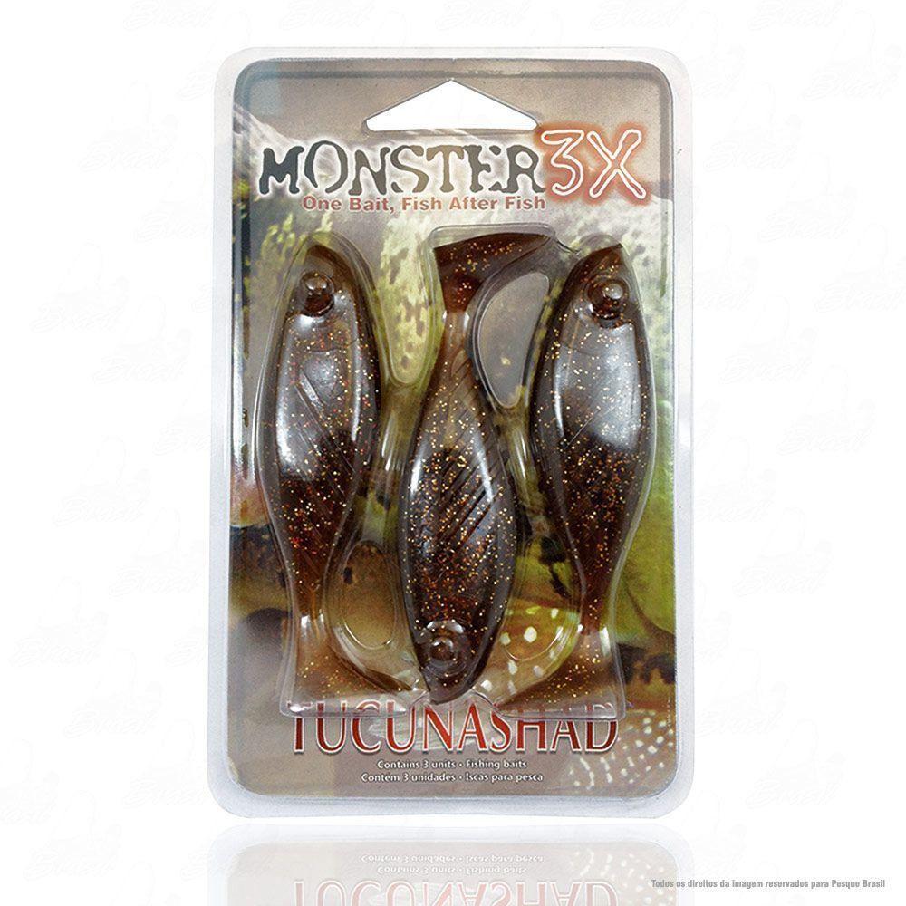 Isca Tucuna Shad Soft Monster 3x 10 cm Cor Coca-Cola 001 Tucunashad
