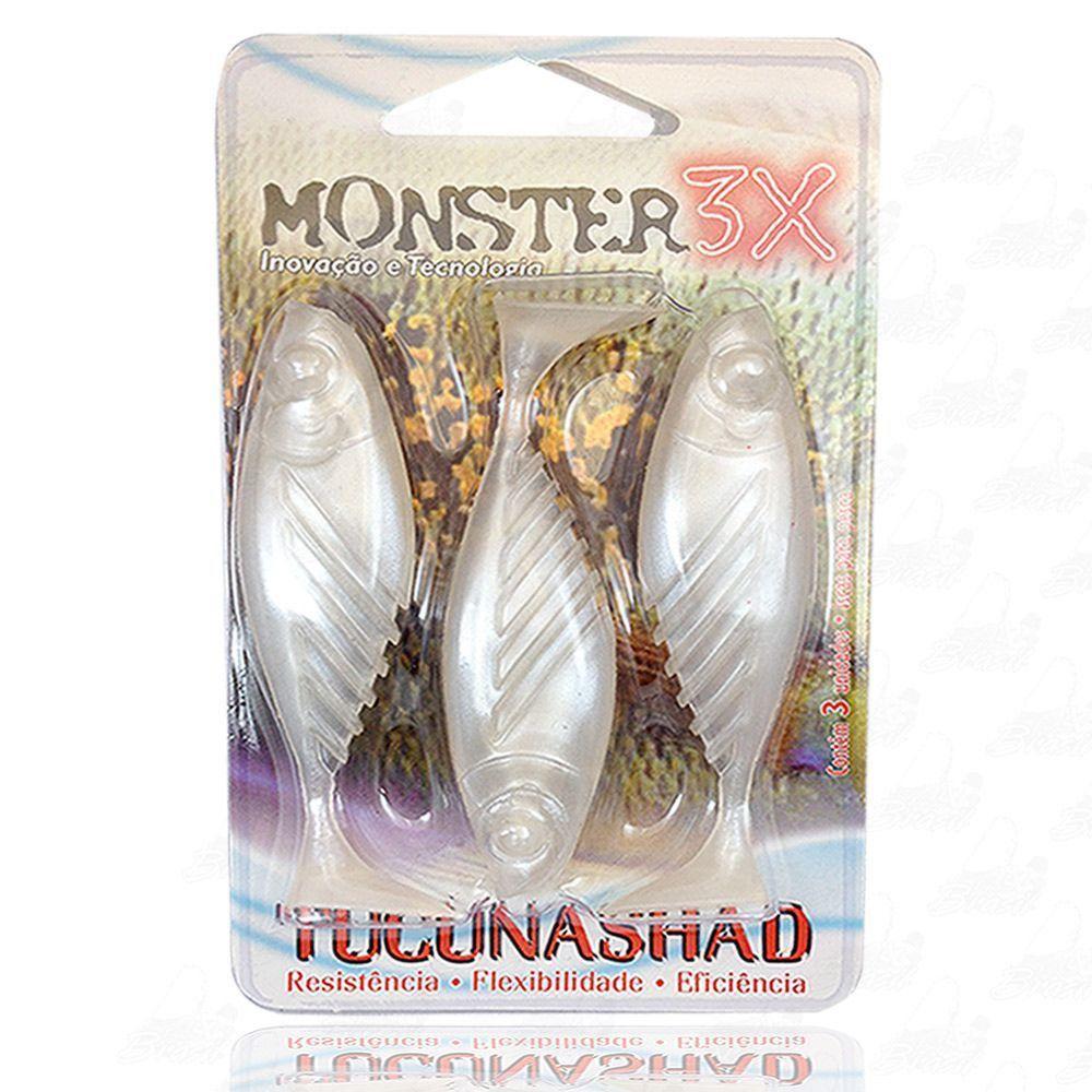 Isca Tucuna Shad Soft Monster 3x 10 cm Cor Manjuba 009 Tucunashad