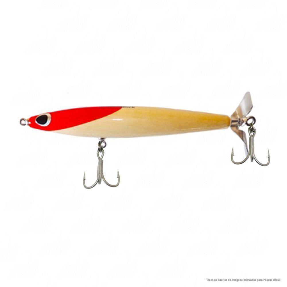 Isca Woodstock Borboleta 19 cm Peso 42g Ação Floating Cor 02 Cabeça Vermelha Nado Superfície Hélice