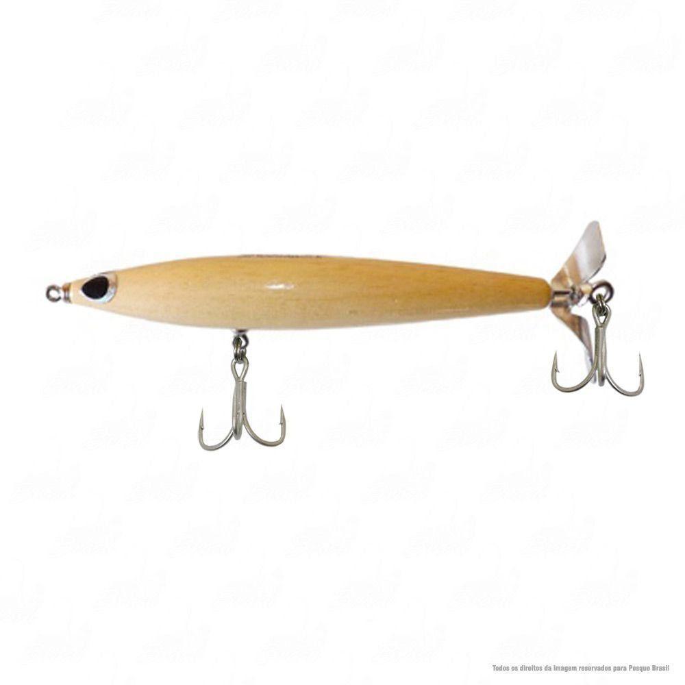 Isca Woodstock Borboleta 19 cm Peso 42g Ação Floating Cor 07 Osso Nado Superfície Hélice