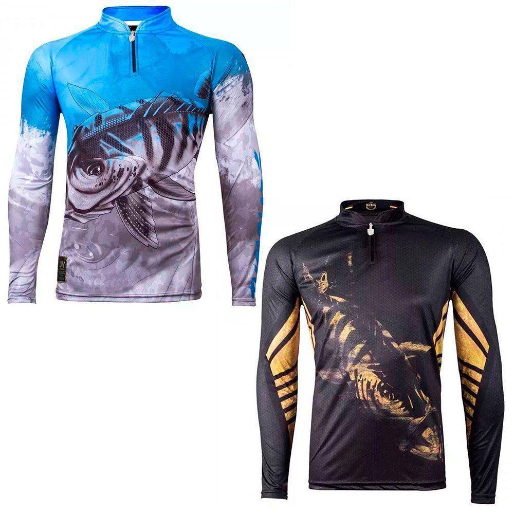 Kit Camisetas de Pesca King Brasil Viking Desenho Tucunaré 2un - PESQUE  BRASIL ... ad523ad63a8ca