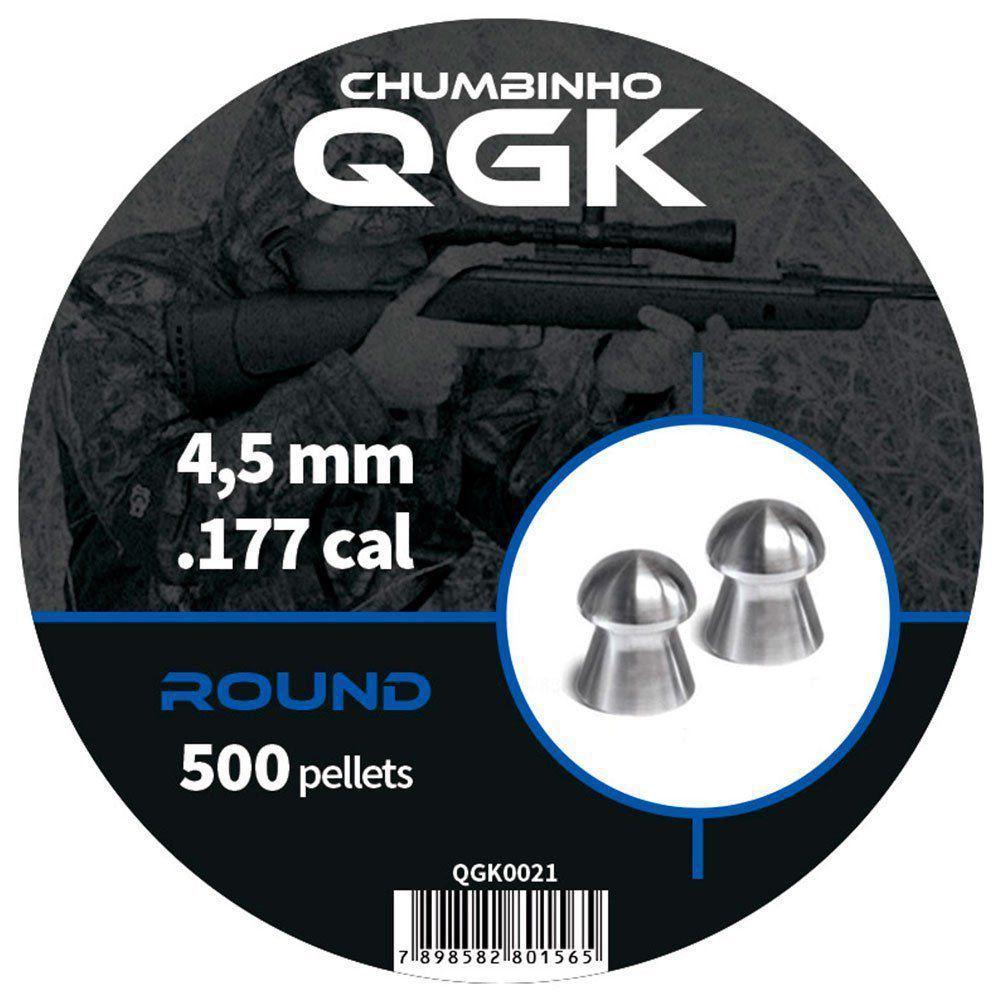 Kit Chumbinho QGK Round 4,5 mm c/ 500 unidades 2un