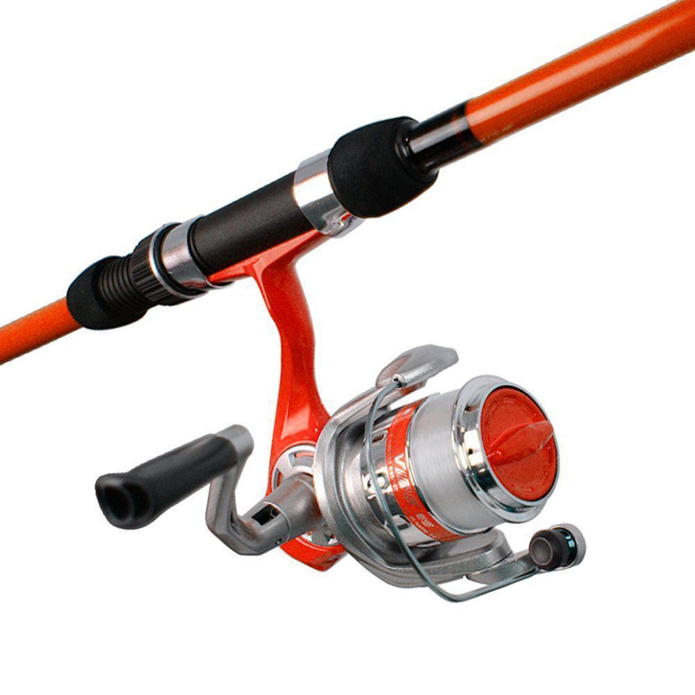974d0f9b8 Kit de Pesca Molinete e Vara Okuma Vibe Cor Laranja - PESQUE BRASIL ...