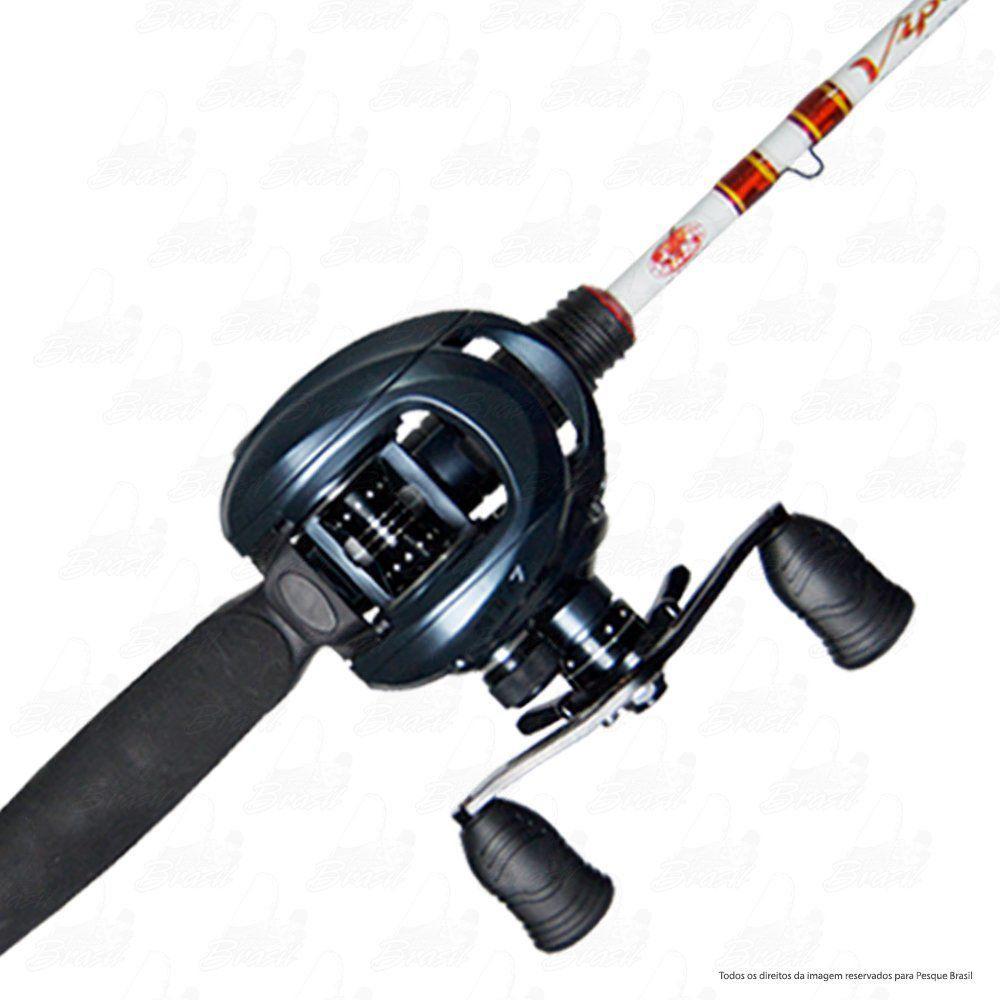 Kit de Pesca Tucunaré Robalo Vara Viper II Albatroz 562 1,68m 10-20lb + Carretilha STP Saint Plus