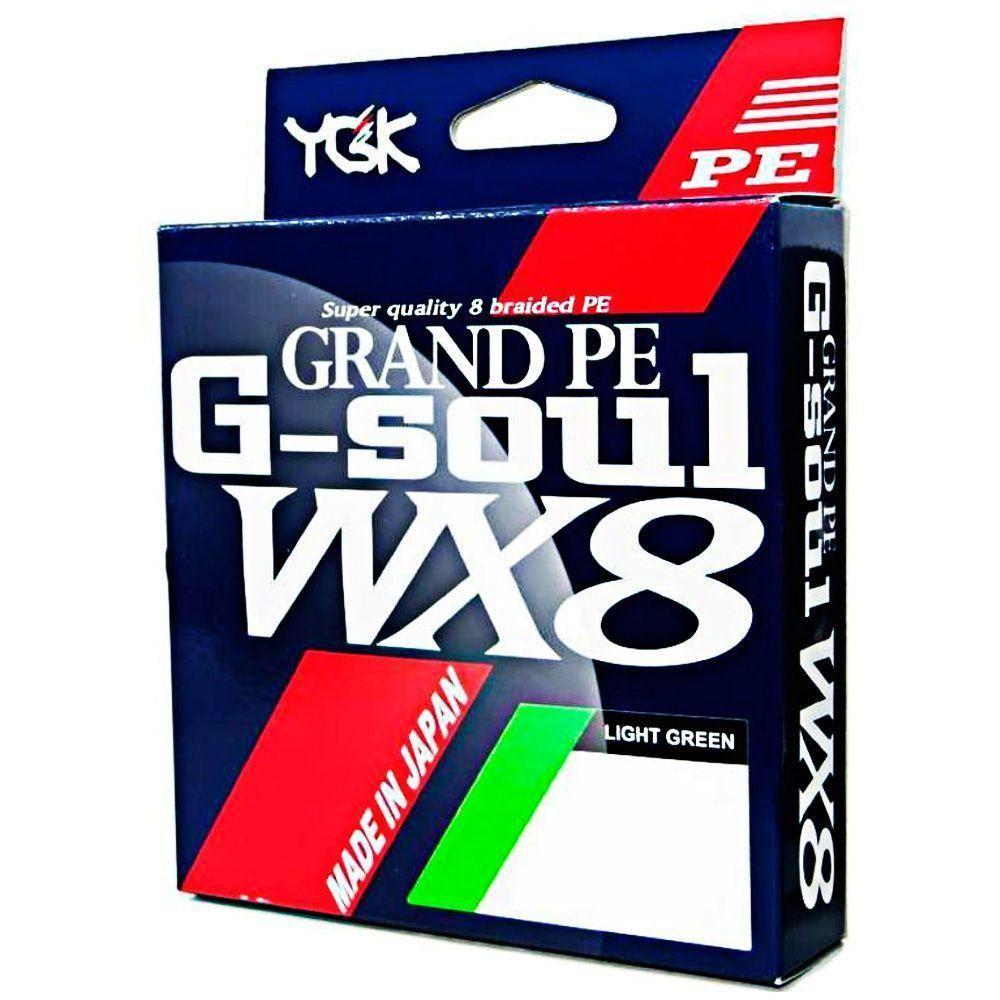 Kit Linha Multifilamento G Soul Grand PE Line WX8 YGK 8 Fios 0,38mm 65lb 150 metros Light Green 2un