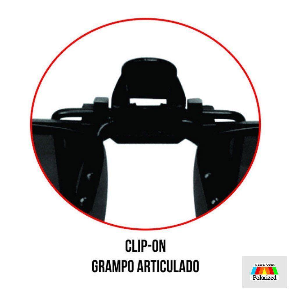 Lente Clip-On Marine Sports Lente Polarizada para Óculos de Grau