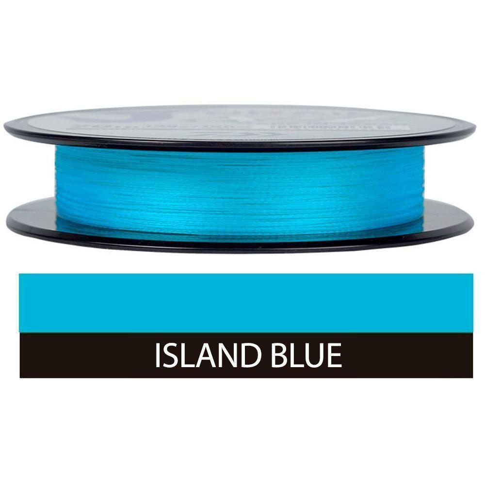 Linha de Pesca Multifilamento J-Braid Grand x8 Daiwa 8 Fios 0,28mm 30lb 135m Island Blue