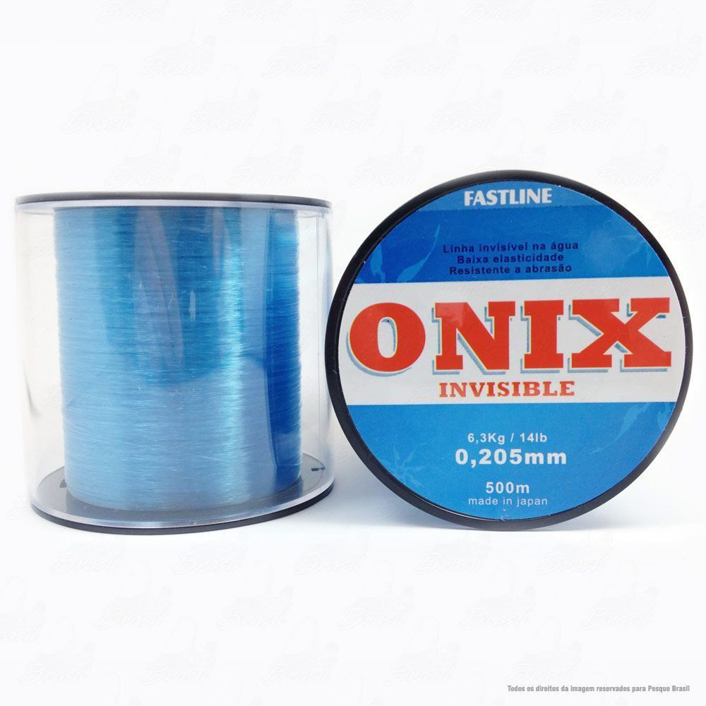 Linha Fastline Onix Invisible Azul 0,205mm 14LB - 6,3kg Nylon 500M