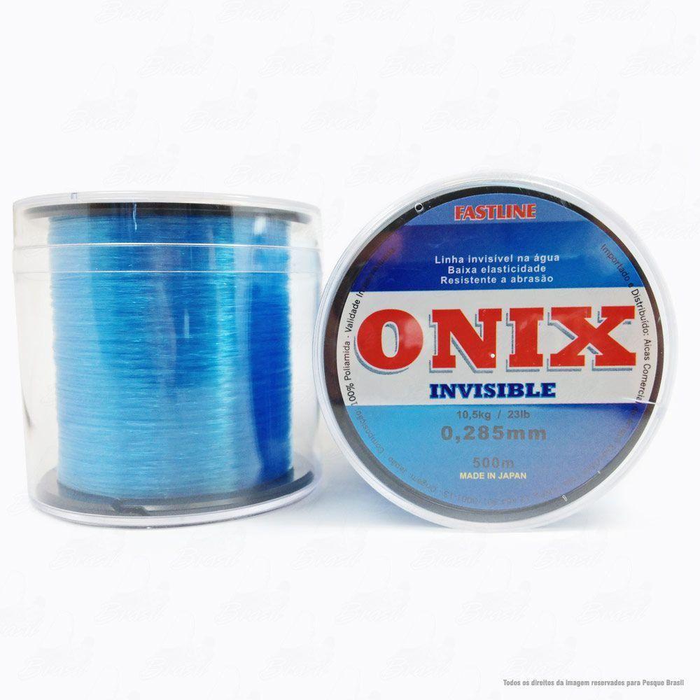 Linha Fastline Onix Invisible Azul 0,285mm 23LB - 10,5kg Nylon 500M
