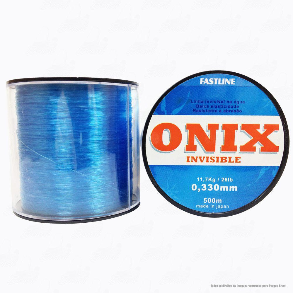 Linha Fastline Onix Invisible Azul 0,330mm 26LB - 11,7kg Nylon 500M