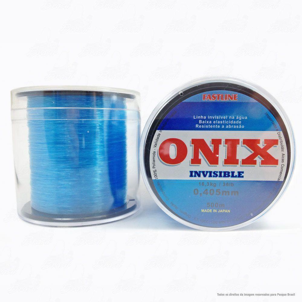 Linha Fastline Onix Invisible Azul 0,405mm 36LB - 16,3kg Nylon 500M