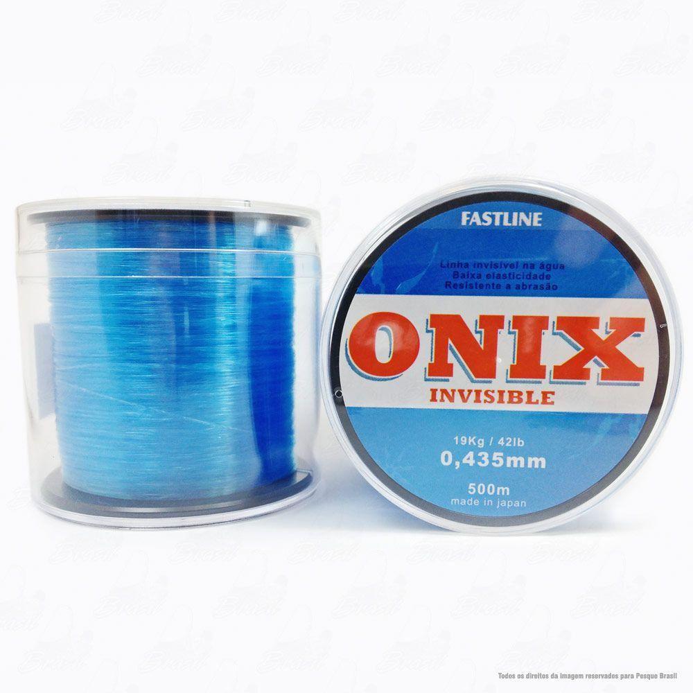 Linha Fastline Onix Invisible Azul 0,435mm 42lb 19kg Nylon 500M