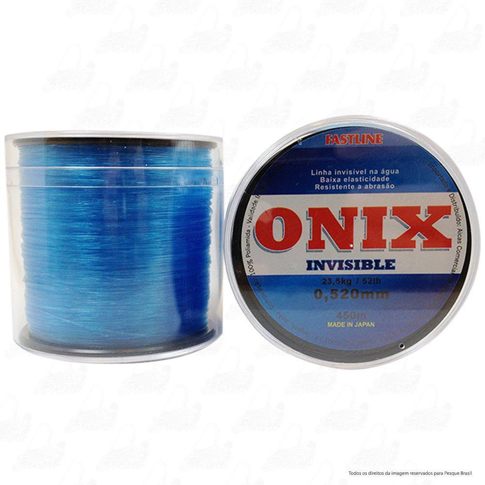 Linha Fastline Onix Invisible Azul 0,520mm 52lb 23,5kg Nylon 450M