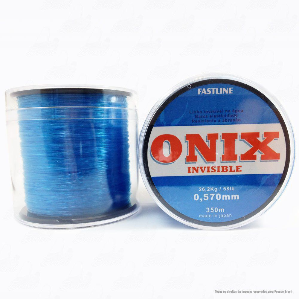 Linha Fastline Onix Invisible Azul 0,570mm 58lb 26,2kg Nylon 350M