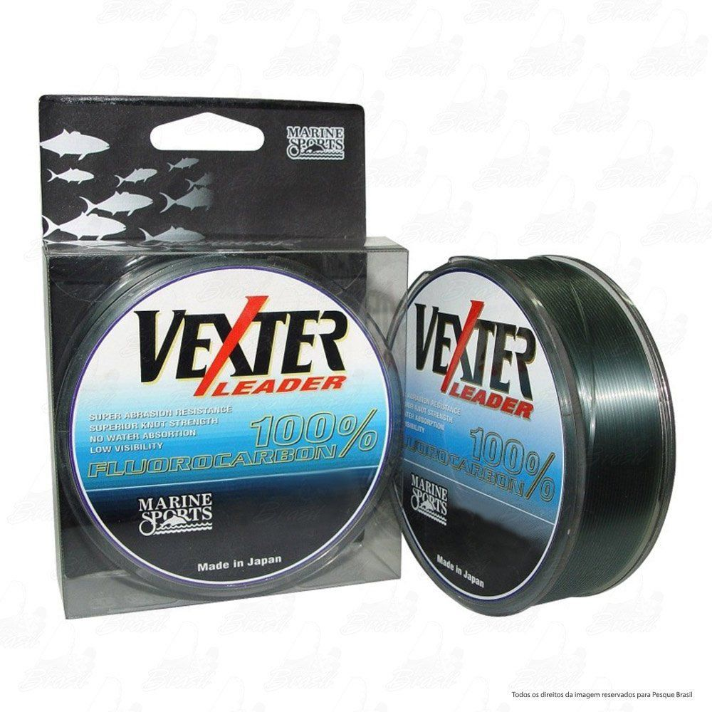 Linha Marine Sports Vexter Leader Fluorcarbon 0,37mm 17lb 8Kg 50m