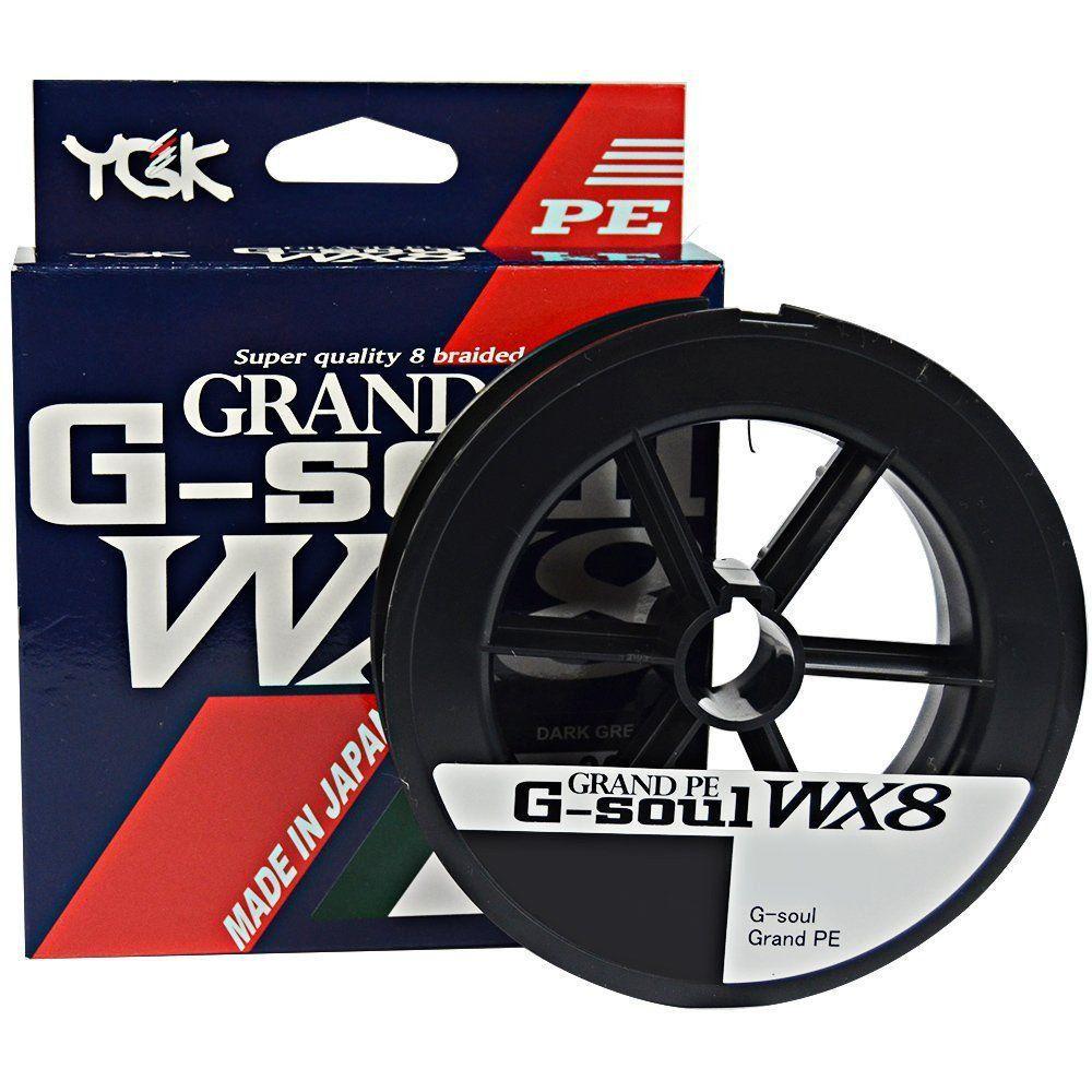 Linha Multifilamento G Soul Grand PE Line WX8 YGK 8 Fios 0,24mm 35lb 300 metros Verde