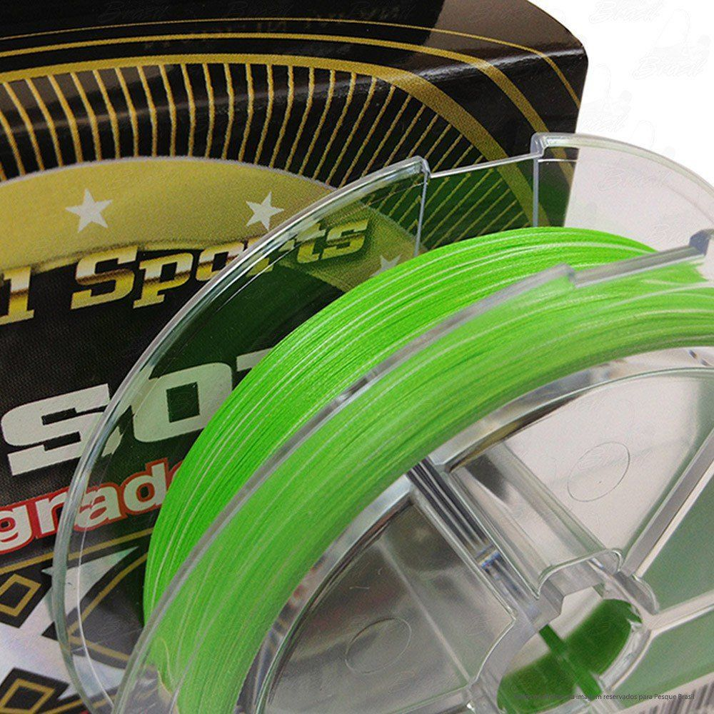 Linha Multifilamento G Soul Upgrade PE X8 Real Sports YGK 8 Fios 0,21mm 30lb 200 metros