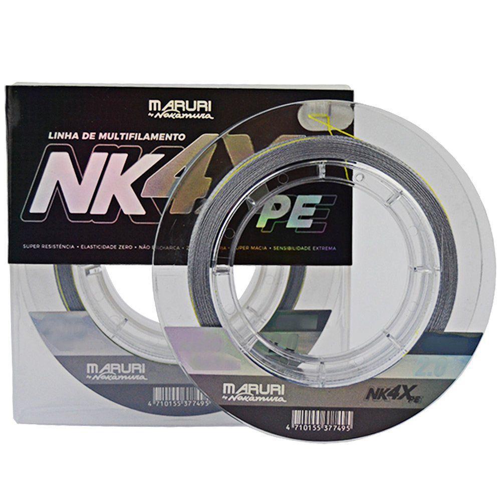 Linha Multifilamento Maruri By Nakamura NK 4X 0.16mm 18lb PE 1.0 200m
