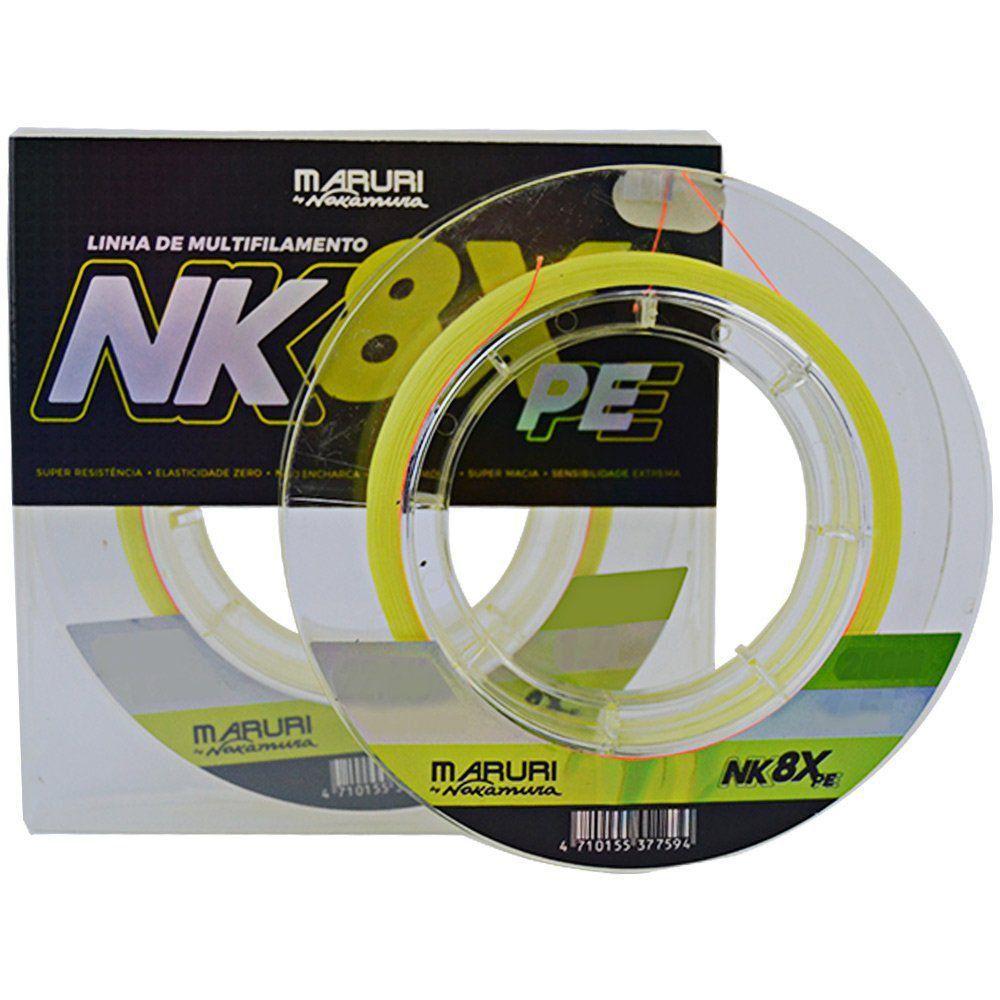 Linha Multifilamento Maruri By Nakamura NK 8X 0.55mm 75.9lb PE 10 200m
