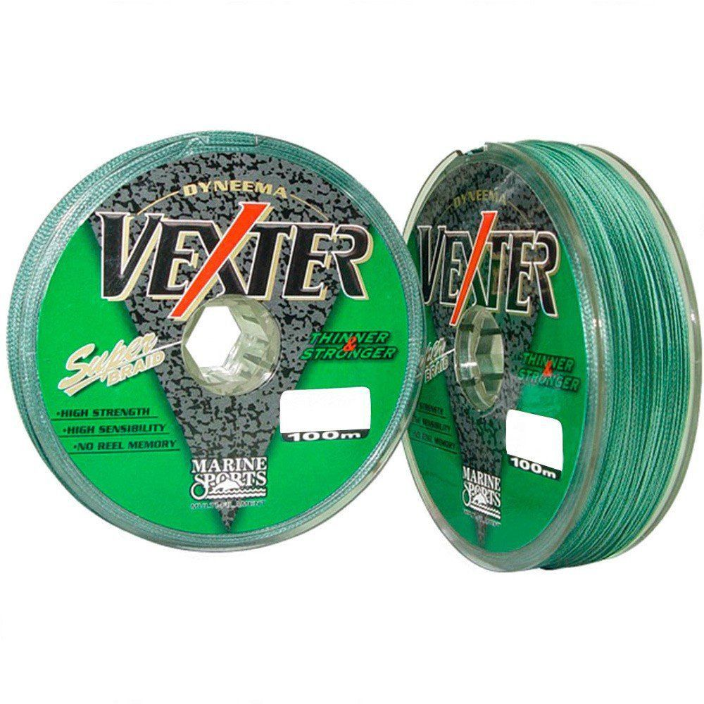 Linha Multifilamento Vexter Marine Sports 100m Green (verde) 0,25MM 25LB