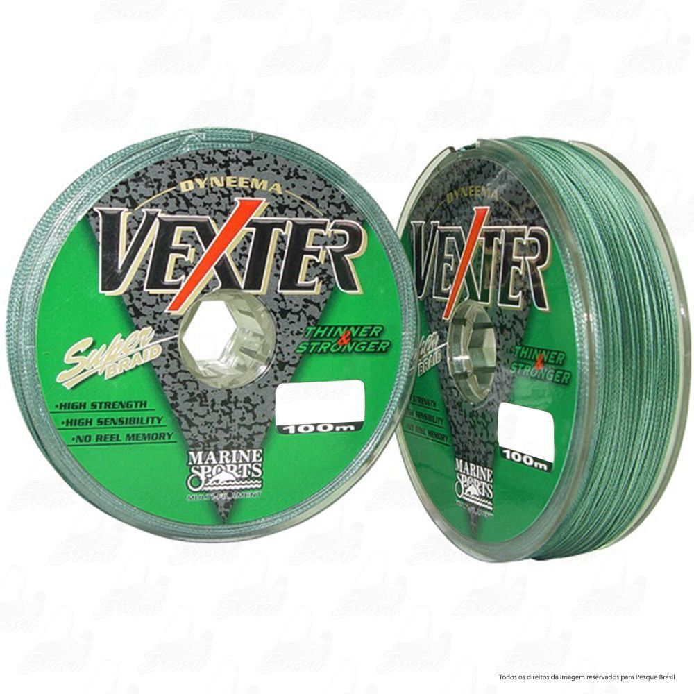 Linha Multifilamento Vexter Marine Sports 100m Green (verde) 0,35MM 50LB