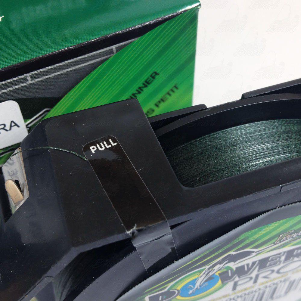 Linha Power Pro Multifilamento 300YDS (verde) 0,13mm 8Lbs 8 Fios - 4Kg 275m