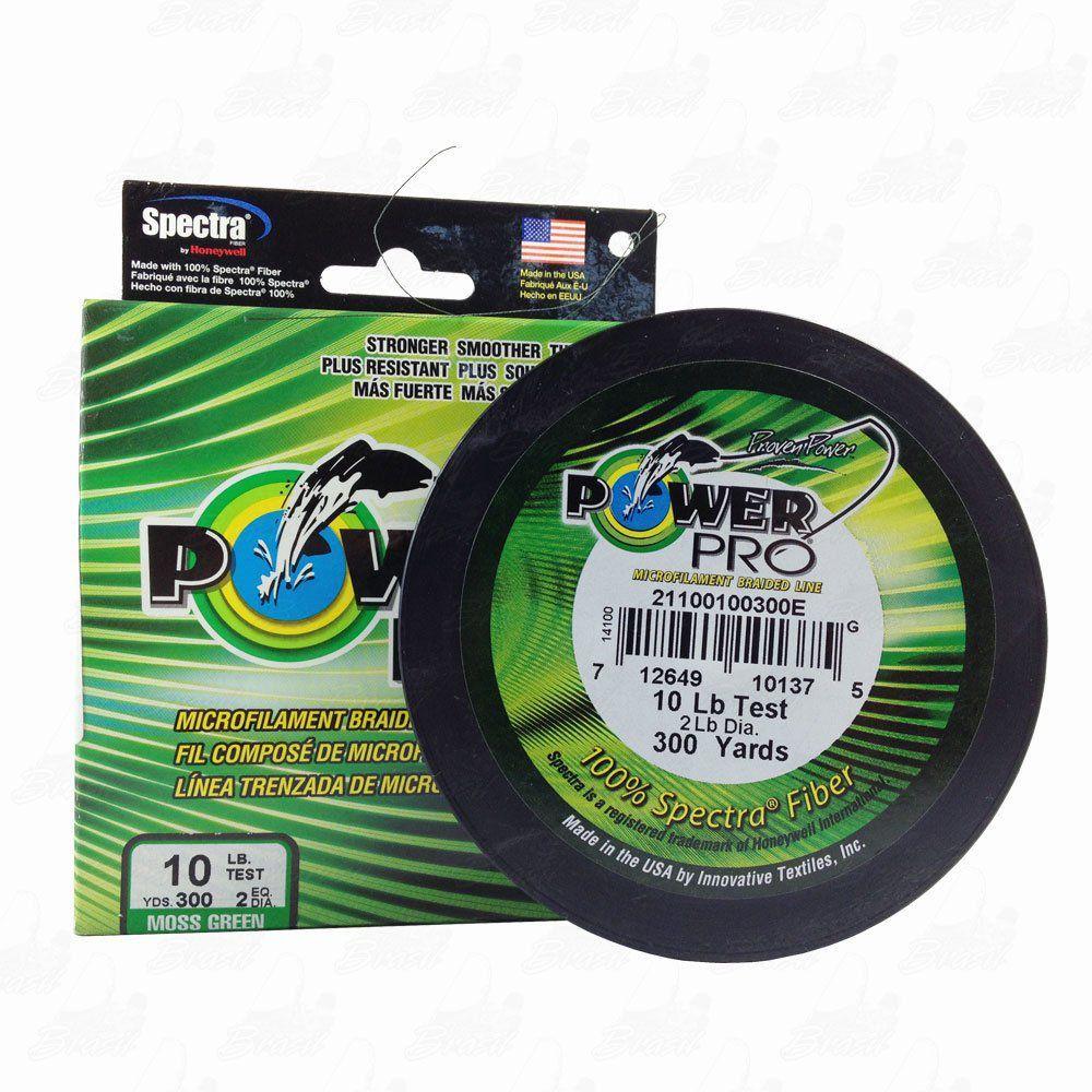 Linha Power Pro Multifilamento 300YDS (verde) 0,15mm 10Lbs 8 Fios - 5Kg 275m
