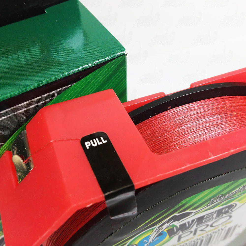 Linha Power Pro Multifilamento 300YDS (vermelho) 0,13mm 8Lbs 8 Fios - 4Kg 275m