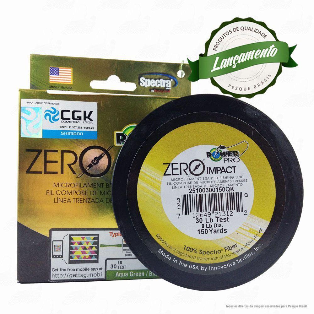 Linha Power Pro Zero Impact Multifilamento 150YDS (verde água) 0,28mm 30Lbs - 14Kg 135m