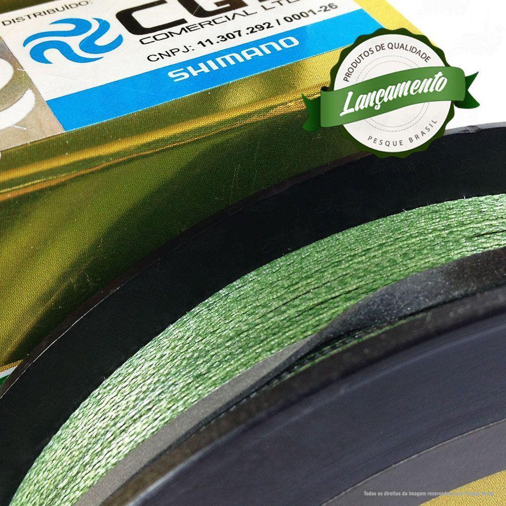 Linha Power Pro Zero Impact Multifilamento 300YDS (verde água) 0,28mm 30Lbs 4 Fios - 14Kg 275m