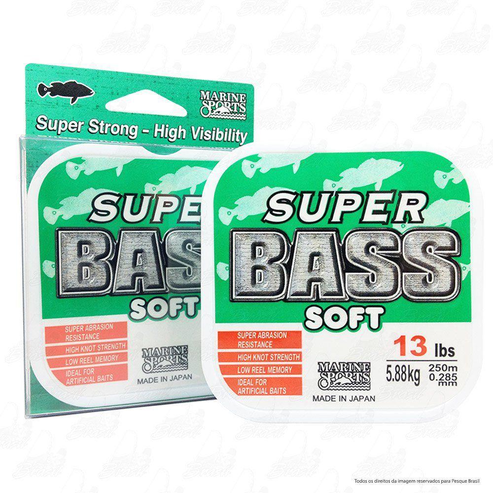 Linha Super Bass Green (verde) Marine Sports 0,285mm 13lb Monofilamento 250m