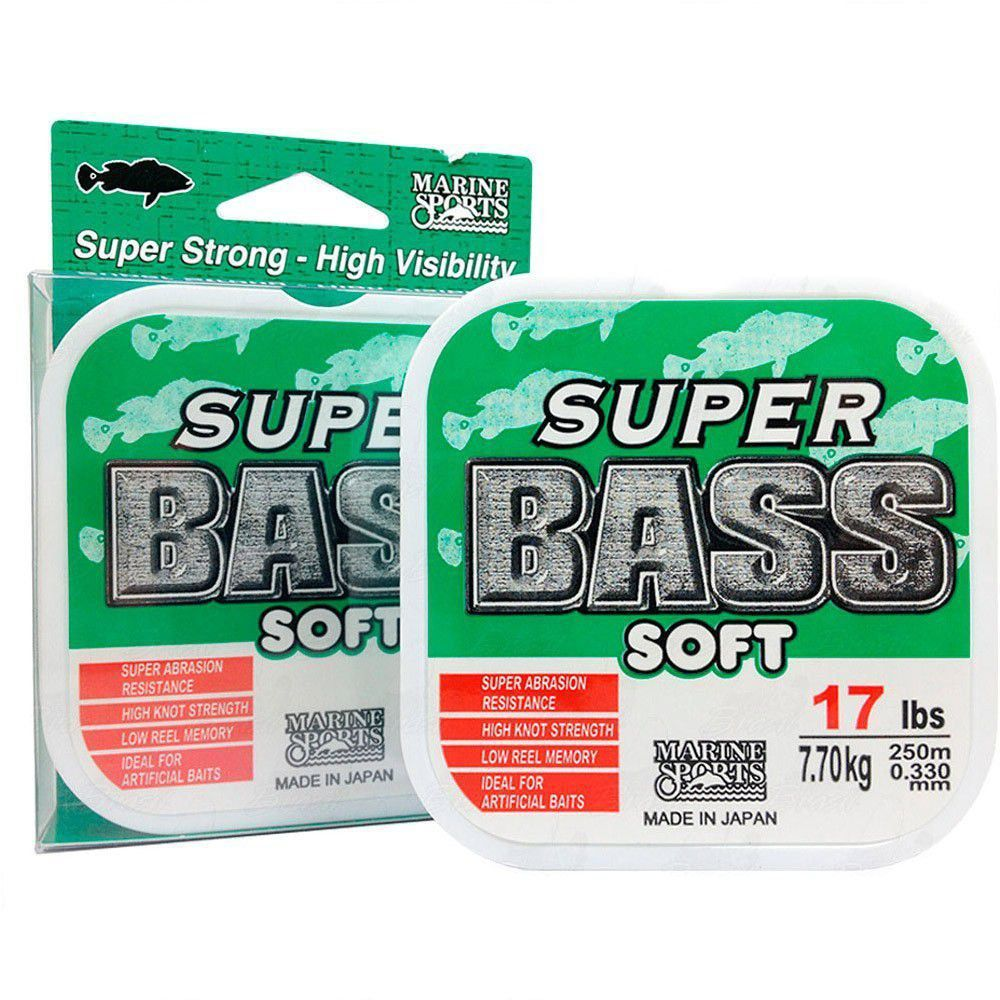 Linha Super Bass Green (verde) Marine Sports 0,33mm 17lb Monofilamento 250m