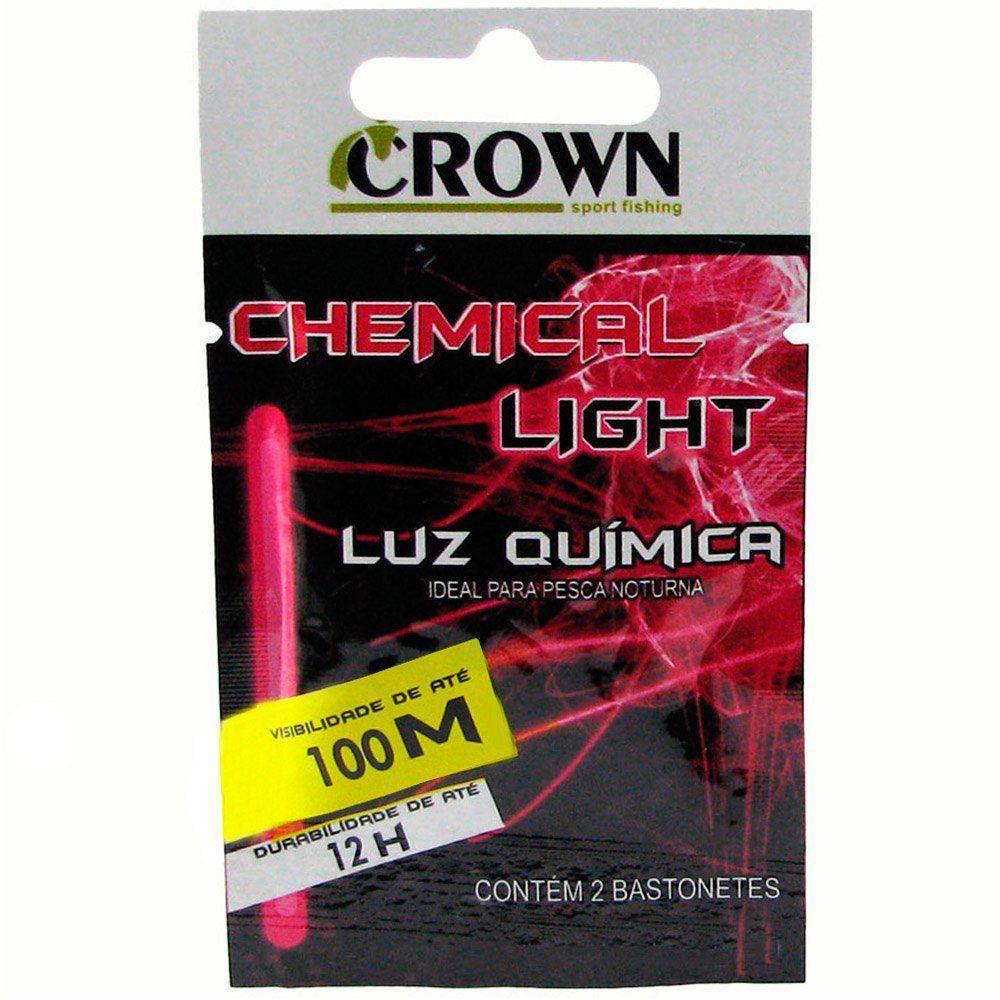 Luz Química Crown Ideal para Pesca Noturna Alcance 100m Duração 12h Cor Pink
