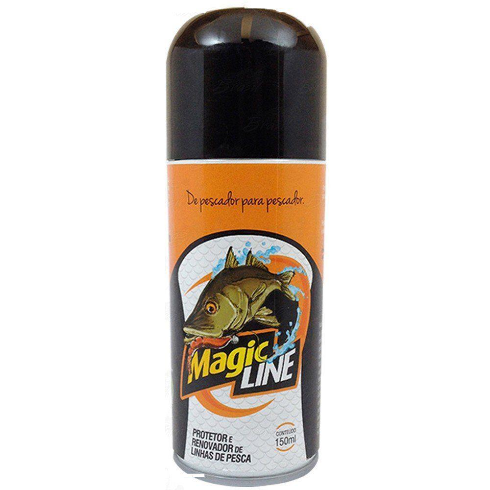 Magic Line Protetor e Renovador de Linhas de Pesca como Multifilamento da Monster 3x 150ml