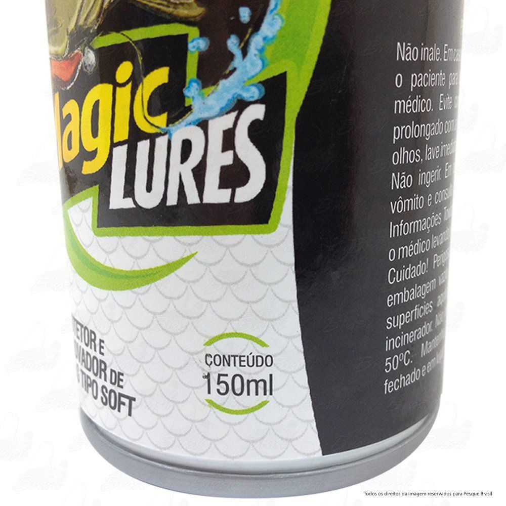 Magic Lures Protetor e Renovador de Iscas tipo Soft Camarão Artificial de Silicone da Monster 3x 150ml