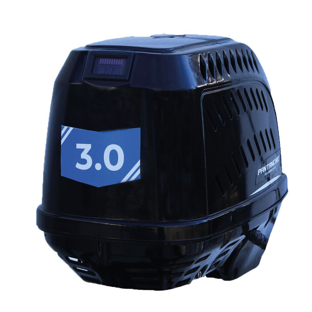Motor de Popa Elétrico Jet Turbo Electric Pantaneiro 3hp Com Carrinho De Transporte